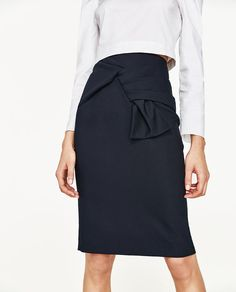 ZARA - COLLECTION SS/17 - PENCIL SKIRT WITH FRONT KNOT