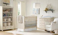 Dormitorio del bebé en tonos neutros 1
