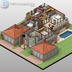 5 Bedroom Double Storey House Plan in South Africa | NethouseplansNethouseplans