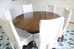 WOW! Learn how to refinish a table without sanding or stripping! It is so easy and the results are stunning!
