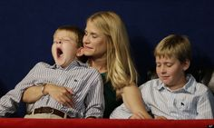 Paul Ryan's family listening to their dad's speec at the Republican Convention.
