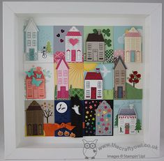 The Crafty Owl's Blog | Holiday Home Through The Seasons Home Decor Frame - and my last Design Team post over at The Paper Players!