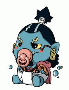 Chibi baby Jinbei - One piece Kawaii Chibi, Anime Chibi, Kawaii Anime, Manga Anime, One Piece Comic, One Piece Ace, One Piece Zeichnung, One Piece English Sub, One Piece Drawing