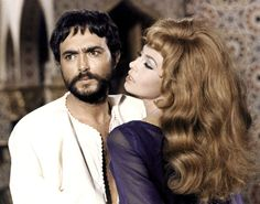 Ali Ben Ayed and Michèle Mercier in Angélique et le Sultan directed by Bernard Borderie, 1968