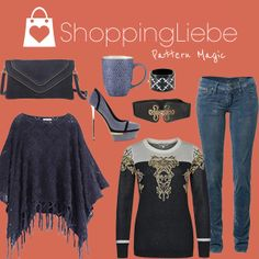 "Mystische Muster und edle Stoffe in unserem heutigen Outfit ""Pattern Magic""  Pulloverhttp://shoppingliebe.de/goto/xtA2wVJ3ko Hosehttp://shoppingliebe.de/goto/24xOj2tPBl Schuhehttp://shoppingliebe.de/goto/OoILybs4sQ Ponchohttp://shoppingliebe.de/goto/hmkExbVheM Taschehttp://shoppingliebe.de/goto/znalAEpG66 Gürtelhttp://shoppingliebe.de/goto/2glJkSSxTv Tassehttp://shoppingliebe.de/goto/ZJGhxiHlFq Armreifhttp://shoppingliebe.de/goto/5KBqfxNP7Z"