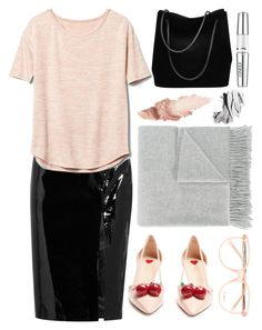 Nice To Teach You. by pixiesandstuff on Polyvore featuring polyvore moda style Gap Topshop Unique Gucci Acne Studios Chloé Maybelline Clinique Bobbi Brown Cosmetics fashion clothing patentleather leatherskirt officestyle