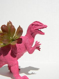 Dinosaur Planter BIRTHDAY GIFT Great Dorm Office by crazycouture. $14.50 USD, via Etsy.