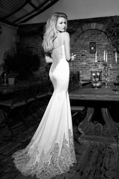 37 Galia Lahav Haute Couture 2013 Bridal Collection: The St. Tropez Cruise Okay, so it turns out I love this whole collection. Every piece is stunning- just look at that back and the train detailing.