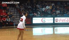 And this cheerleader who did the same. | 35 GIFs Of Individuals Who Really Did Nail It