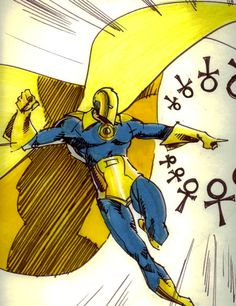 Nelson came into possession of the Helm of Nabu, succeeding Hector Hall as the new Dr. He is the grand-nephew of the original Doctor Fate, Kent Nelson. Dc Comics Characters, Dc Comics Art, Fun Comics, Comic Books Art, Comic Art, Dc Doctor, Dr Fate, Arte Nerd, Fictional Heroes