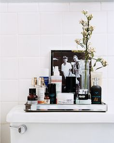 Love mirror tray for bathroom organization