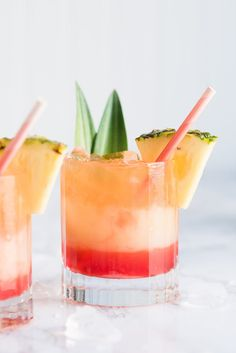 Visit entertaining blog The Sweetest Occasion for the best summer cocktail recipes including this mango sunrise piña colada recipe perfect for summer parties!