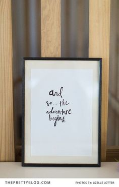 DIY framd quote as wedding decor | Photo by Lizelle Lotter