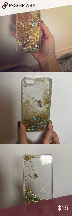 Glitter iPhone 6 case Everyone that sees this case in person is always OBSESSED. the stars and glitter move when you shake it, creating a magical feel to any iPhone 6! I posted a picture of me holding it right side up and upside down to show the glitter moves. If only I could post a video! Let me know if you have any questions💕 Accessories Phone Cases