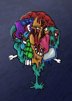 My Brain colour by brewsterart.deviantart.com on @deviantART