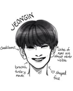 Credit to whoever created/drew this and all the other members as well! Kids Fans, Kpop Drawings, Kid Memes, K Idol, Kpop Fanart, Art Challenge, Drawing Tips, Art Inspo, Art Reference