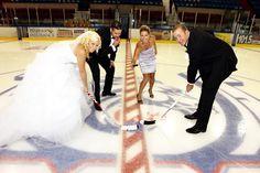 How else should hockey lovers take their Wedding Photos? No skates tho Wedding Themes, Wedding Pictures, Wedding Ideas, Wedding Dresses, Wedding Stuff, Wedding Engagement, Engagement Photos, Picture Ideas, Photo Ideas
