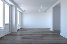 Empty room without furniture
