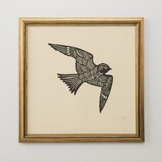 Beautiful Sammamish Bird Woodblock Print.