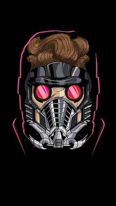 Marvel, Star-Lord, fan art, minimal, 720x1280 wallpaper