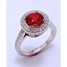 2 Carat Rare Burmese Ruby Platinum | RobertYoung.com