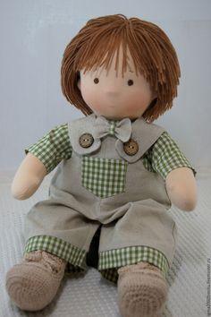 Купить Василек- куколка по вальдорфским мотивам - вальдорфская кукла, текстильная кукла, кукла в подарок