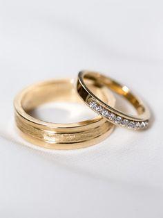 14k Yellow Gold His & Hers Rings  Yellow Gold by DavieandChiyo