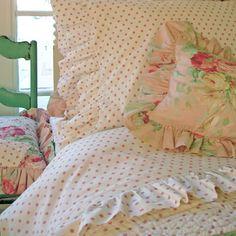 Pink Polka Dot Bed Sheets