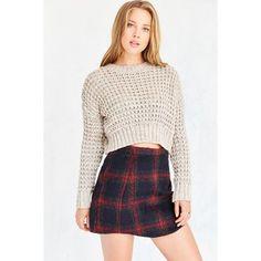 Cooperative Elton Plaid Mini Skirt