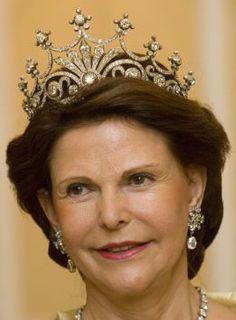 Queen Silvia wearing the Nine Prong Tiara