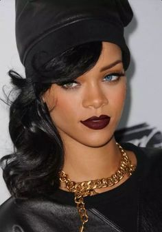 rouge a levres bordeaux mat Rihanna  #makeup #beauty