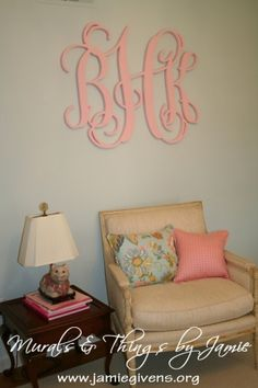 """www.jamiegivens.org Monograms up to 48"""" 3/4"""" deep Painted or stained by www.jamiegivens.org"""