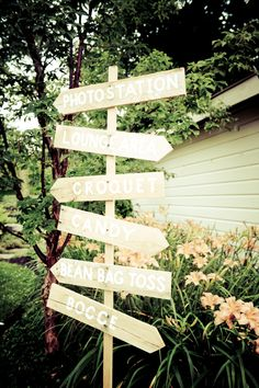 © Violet Marsh Photography /// http://violetmarsh.com /// Wooden Lawn Sign /// Design by http://www.champagneandink.com