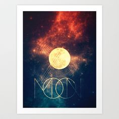Moon Art Print by Victor Vercesi - $17.00