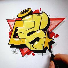 S - like sunday. Graffiti Art, Graffiti Sketch, Graffiti Bridge, Graffiti Piece, Graffiti Tagging, Graffiti Drawing, Graffiti Styles, Graffiti Alphabet, Graffiti Lettering