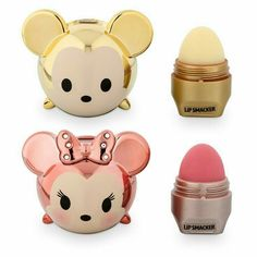 Limited edition gold Mickey and rose gold Minnie Tsum Tsum Lip Smacker set – Mic… Limited edition gold Mickey and rose gold Minnie Tsum Tsum Lip Smacker set – Mickey is whipped-pineapple magic flavor and Minnie is strawberry beignet flavor! Disney Collection, Makeup Collection, Mascara Hacks, Eos Lip Balm, Lip Balms, Disney Makeup, Cute Makeup, Lip Makeup, Makeup Brushes
