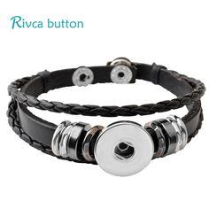 P00646 Wholesale Snap Button Bracelet&Bangles 10 color High quality leather Bracelets For Women 18mm Rivca Snap Button Jewelry -  http://mixre.com/p00646-wholesale-snap-button-braceletbangles-10-color-high-quality-leather-bracelets-for-women-18mm-rivca-snap-button-jewelry/  #Bracelets
