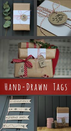 Free printable! 16 illustrated Christmas gift tags | Decorator's Notebook blog