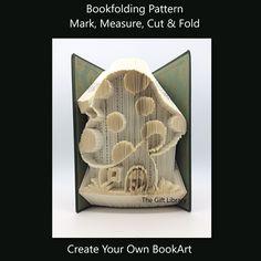 Cut and Fold Book Folding Pattern~Toadstool 2
