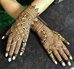 Another one from the August archives! Bridal henna for the lovely, Kiranjot! Engagement Mehndi Designs, Wedding Henna Designs, Mehndi Designs 2018, Mehndi Designs Book, Modern Mehndi Designs, Dulhan Mehndi Designs, Mehndi Designs For Fingers, Mehndi Design Pictures, Henna Tattoo Designs