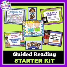 Five popular products all bundled together to enhance your guided reading routines. Whether you are just beginning or a seasoned pro, you will find lots of great goodies in this bundle.