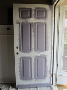 Re-pinning this because I used this tutorial to paint my front door and it came out great! Front Door Makeover - really good tutorial