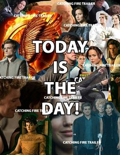 THE CATCHING FIRE TRAILER COMES OUT AT 9:00 EASTERN TIME TODAY, SUNDAY, APRIL 14, 2013.