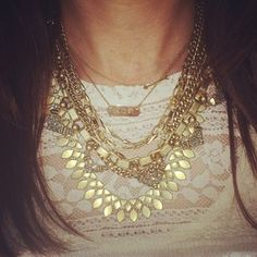 The Gold Sutton was made for layering. Instagram photo by suzkling | Stella Dot