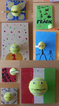 Ophangrekje van tennisballen#vaderdag