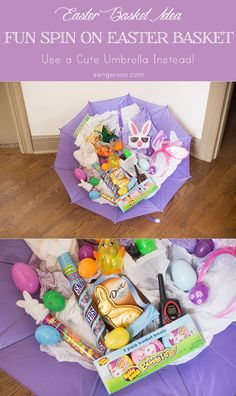 Budget friendly easter basket ideas basket ideas easter baskets unique easter basket ideas use an umbrella instead ad sweetereaster negle Choice Image