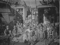 Repost-   Africans were  being captured and shipped in to slavery even after the Civil War.  This photo taken of African children aboard a slave ship in 1896. #discrimination (brown, 2002)
