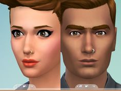 Mod The Sims: Nose Ring by Snaitf • Sims 4 Downloads