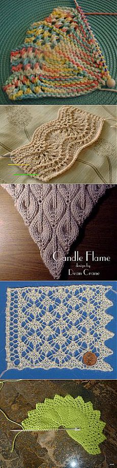Knitted lace on Pinterest