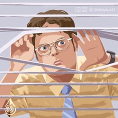 Dwight Schrute, Assistant to the Regional Manager, Sam Yang Office Admin, Office Fan, The Office Characters, Office Jokes, The Office Show, Office Wallpaper, Clay Art Projects, Dwight Schrute, Office Prints